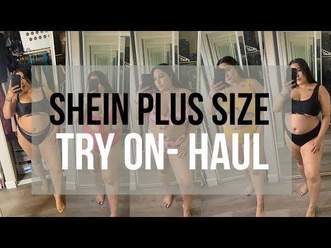 Shein Try-on Plus Size Bikini Haul  Lovejaycakes