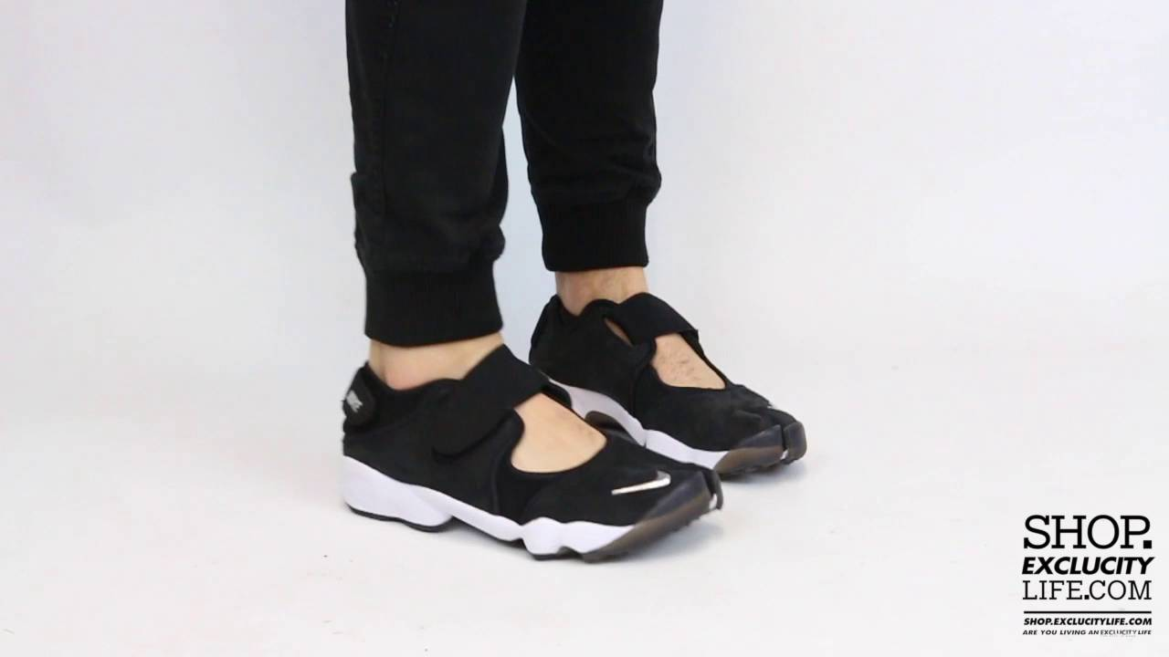 Nike Air Rift Anniversay QS Black White On feet Video at Exclucity