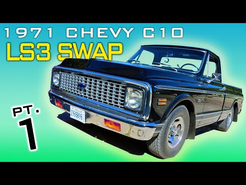 1971 Chevrolet C10 Pickup LS3 4L60 Transmission Swap Video Series Part 1 V8TV