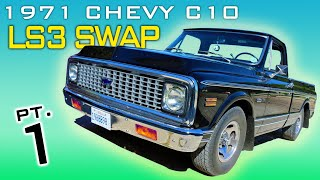 1971 Chevrolet C10 LS3 4L60 Transmission Swap Video Series Part 1 V8 Speed and Resto Shop