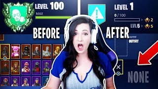 DELETING my GIRLFRIENDS Fortnite SKINS! Fortnite STATS RESET! (Fortnite Battle Royale)