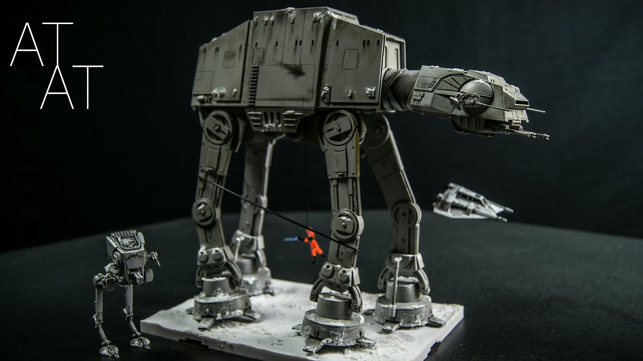 Bandai Star Wars AT-AT Walker 1/144 Scale Custom Diorama Model Kit 4K  Review FOR SALE