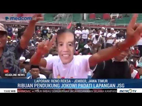 Puluhan Ribu Pendukung Jokowi Padati Lapangan JSG