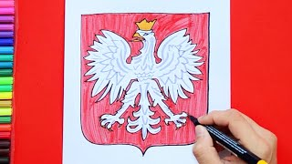 How to draw and color Poland National Football Team Logo