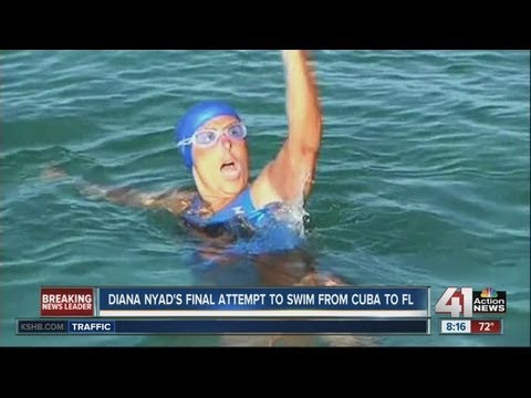 Woman makes final attempt to swim from Cuba to Florida