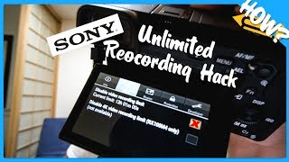 Disable Video Record Limit on Sony E-Mount Camera (Local Installation)