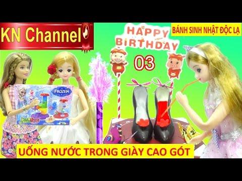 KN Channel tổ chức tiệc sinh nhật tháng 3 UỐNG NƯỚC TRONG ĐÔI GIÀY CAO GÓT CHOCOLATE cực lạ