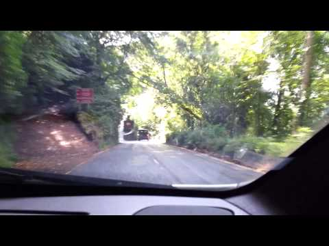 Scenic drive down into Lynmouth