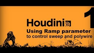 Houdini Tutorial: How to control polywire, and sweep node along a curve by ramp parameter. part1