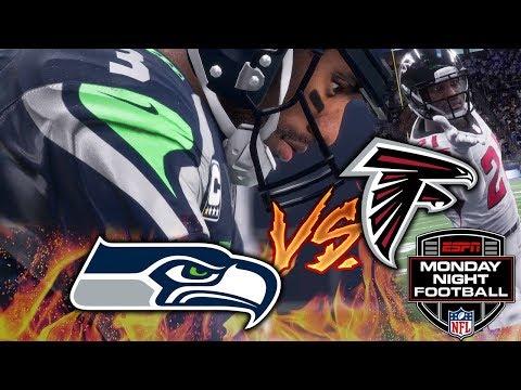 Monday Night Football 11/20/2017 - Atlanta Falcons at Seattle Seahawks (EA Madden NFL 18 Gameplay)