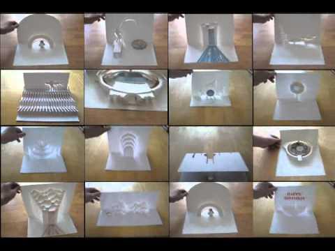 a4 art paper art pop up card 3d card youtube. Black Bedroom Furniture Sets. Home Design Ideas