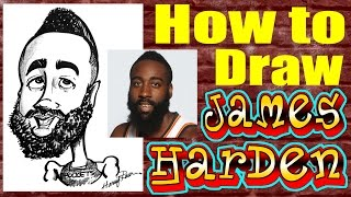 How To Draw A Quick Caricature James Harden