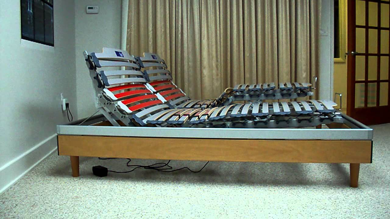 Nottinblu Ego Wood Slat Frame Bed Adjule Sleep System Electric Box Spring Mattress You