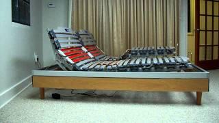 Nottinblu Ego Wood Slat Frame Bed Adjustable Sleep System Electric Box Spring Mattress