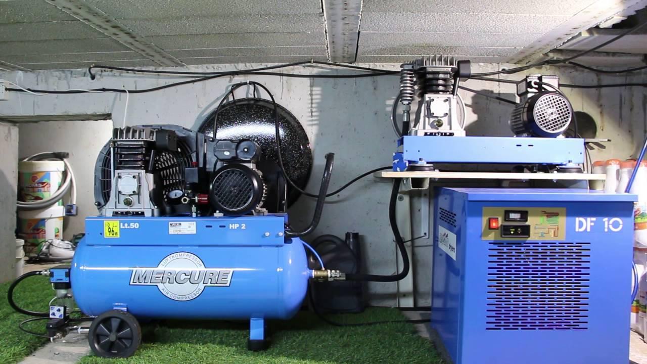 Compresor tandem con purga electronica y secador de aire - Compresor de aire comprimido ...