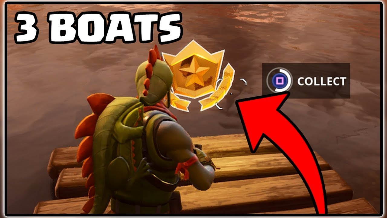 search between 3 boats fortnite battle royale battle pass challenges - fortnite search between three boats