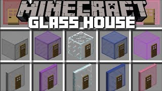 Minecraft GLASS HOUSE MOD SPAWN GLASS HOUSES INSTANTLY IN MINECRAFT Minecraft