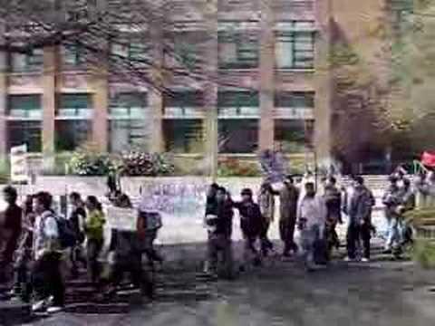 Protest in Washington University April 14.2008