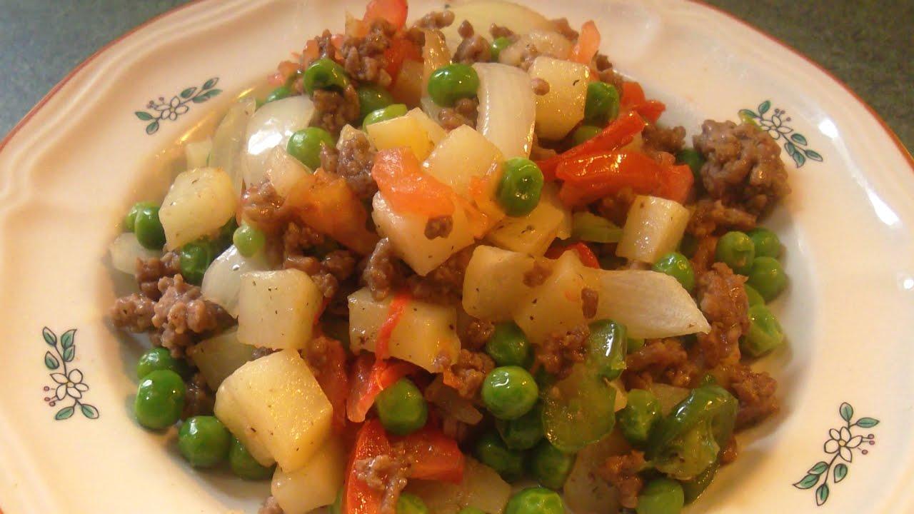 Carne molida con verduras receta complaciendo paladares - Como hacer verduras salteadas ...