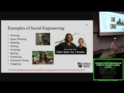 Track 304 Advanced Social Engineering and OSINT for Penetration Testing Joe Gray
