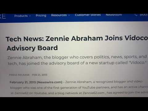 Tech News From 2013: Zennie Abraham Joins Israel-Based Startup Vidoco Advisory Board