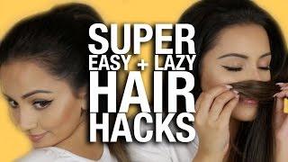 SUPER EASY, LAZY GIRL Hair Hacks