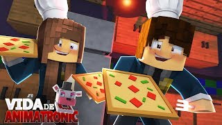 Minecraft: VIDA DE ANIMATRONIC #03 - APRENDEMOS A FAZER PIZZA! ( FIVE NIGHTS AT FREDDY'S )