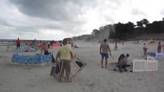 Trąba powietrzna na plaży w Dźwirzynie 21.08.2013