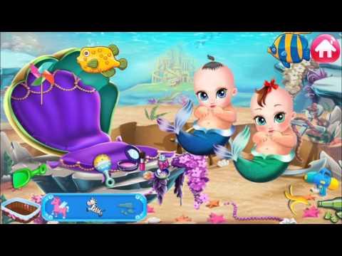 Princess Mermaid Family-Beautiful Babies in Castle&Yummy Juice Making&Fruit Ingredients