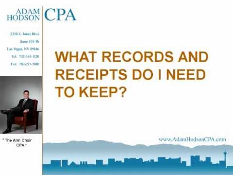What Records And Receipts Do Need To Keep Wmv