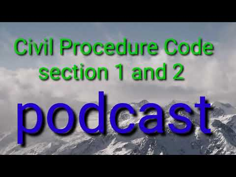 civil procedure code / section 1 and 2 / bare act /English