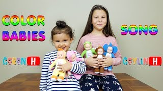 Ceylin-H feat Ceren-H - Color Babies Song - Little Babies Learn Colors with Finger Family Song Rhyme
