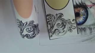 Рисуем объёмные вензеля на ногтях/дизайн ногтей/роспись на ногтях/Nail art painting