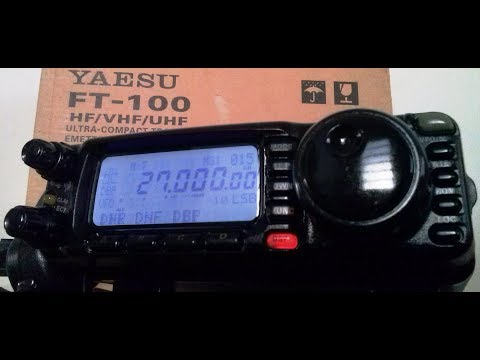 Yaesu FT 100 Transceiver p/ Radio amador HF VHF UHF  100 watts All Band