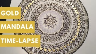 Gold Foil Mandala Time-lapse I WHITEINK BY SSHUKLA