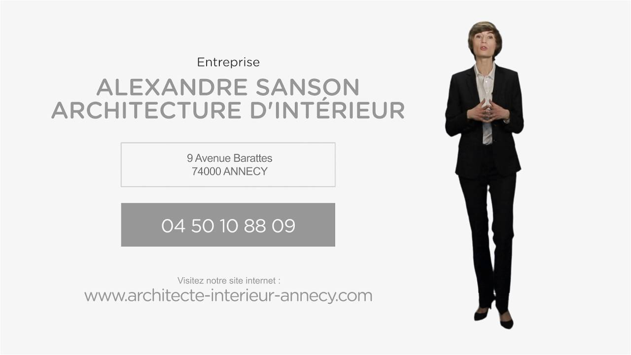 architecture d 39 int rieur annecy alexandre sanson youtube. Black Bedroom Furniture Sets. Home Design Ideas