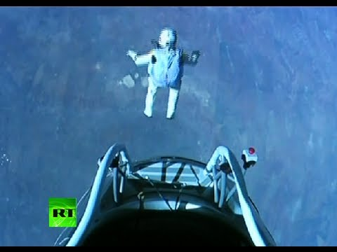stratos jump video felix baumgartner in supersonic