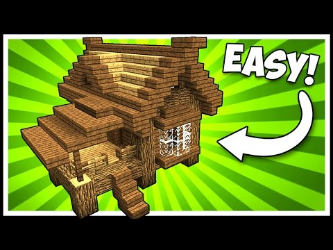EFFICIENT WOODEN LODGE CABIN/HOUSE! - Minecraft Tutorial