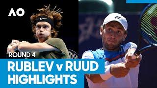 Andrey Rublev vs Casper Ruud Match Highlights (4R) | Australian Open 2021