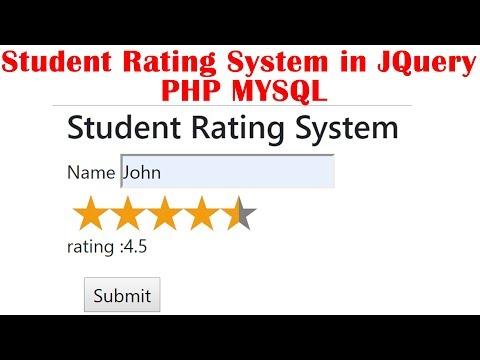 Star Rating System In JQuery PHP MYSQL