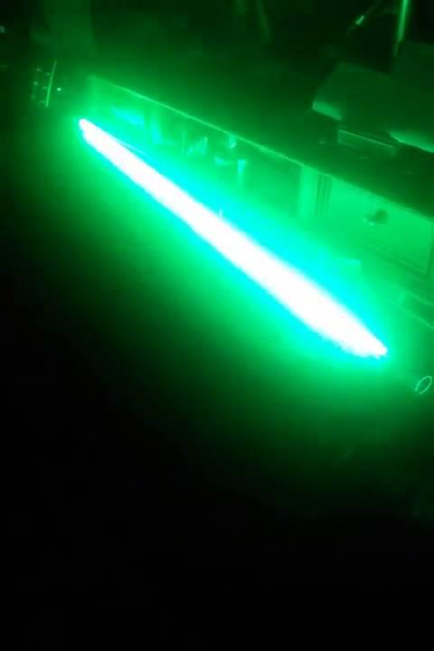 Green lightsaber arduino led string test youtube
