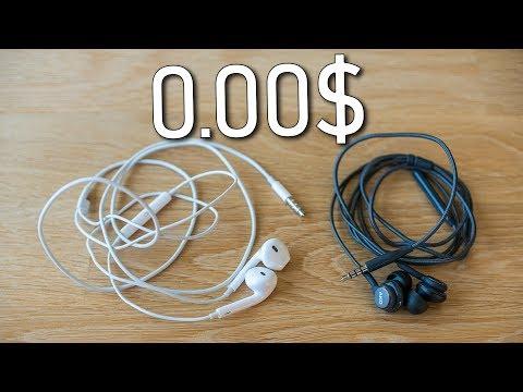Apple Earpods vs Samsung Earphones tuned by AKG - earphones for free