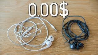 Apple Earpods vs Samsung Earphones tuned by AKG - earphones for free