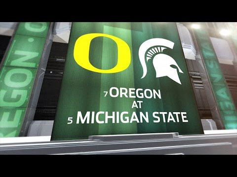 Oregon at Michigan State  Football Highlights