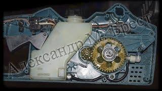Makita UC3520A искрят щётки \ Как поменять ротор \ Ремонт инструмента \ Цепная пила Макита