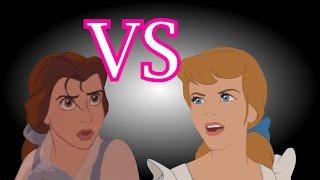 CENICIENTA vs BELLA - Batalla De Rap – (En Animación)