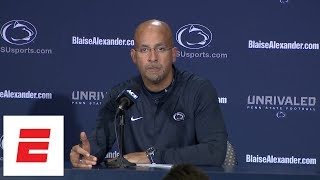 [FULL] Penn State's James Franklin sounds off after loss to Ohio State | ESPN