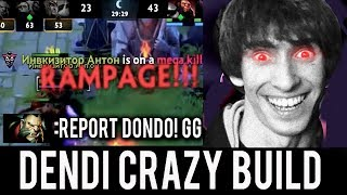 NaVi Dendi RAMPAGE Dazzle He is Not Support - He CARRY OPEN AI BOT ! Dota 2