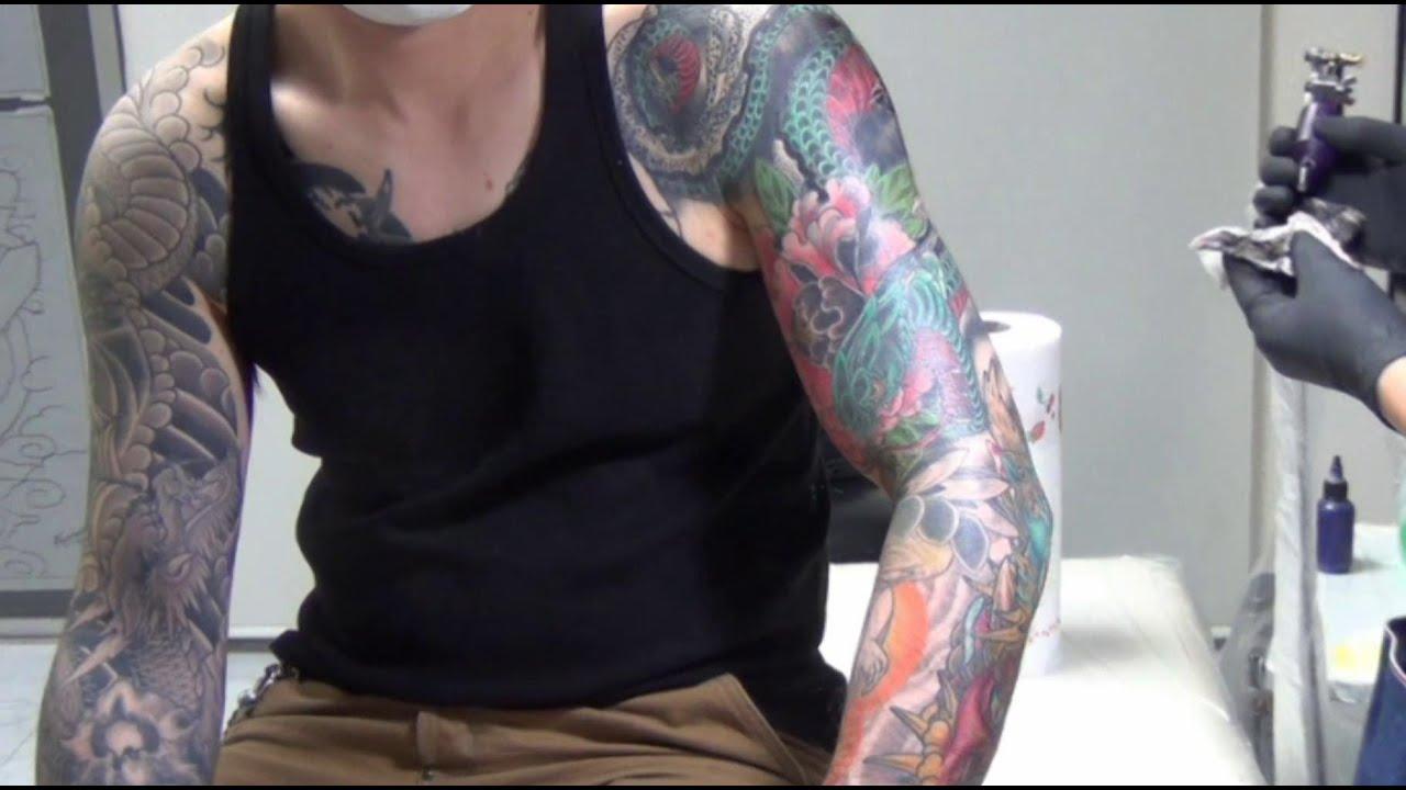 Tattoo Irezumi 刺青・文身 Japanese Art Design Snake,Leaf ,peony