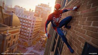 Spider-Man PS4_ Free Roam Swinging _ 4K